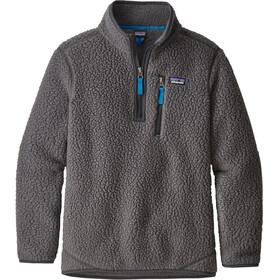 Patagonia Kids Retro Pile 1/4 Zip Pullover Forge Grey